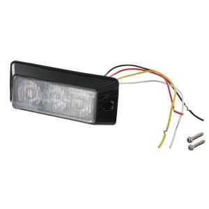 Britax Flitslicht 3-weg LED rood - L5502DV | Volgens EMC 95/54/EG | Opbouw | 12/24 V | 115 x 25 x 45mm mm