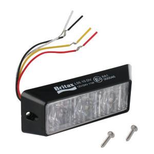 Britax Flitslicht 3-weg LED, oranje - L5510DV | Volgens EMC 95/54/EG | Opbouw | 12/24 V | 115 x 25 x 45mm mm
