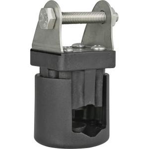 Klem voor werklamp vast - LA10042 | 0,18 kg | 88 x 43 mm | RVS/ kunststof | Rechthoekig