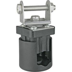 Klem voor werklamp 360° - LA10043 | 0,22 kg | 88 x 43 mm | RVS/ kunststof | Rechthoekig