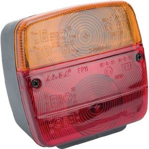 Ajba Lamp met nummerbordverlichting - LA11004 | Opbouw | 108 mm | 103 mm | rood / orange | E3 02 RS150789