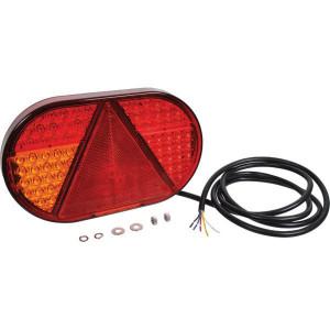 LED achterlicht, links - LA111334 | 254 mm | 153 mm | 12/24 V | 200 cm | Rechthoekig | EMC/E9 | 254 x 153 x 31 mm