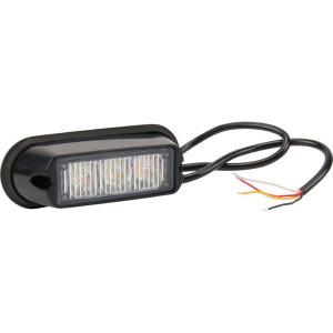 Flitslamp oranje 3 LED - LA20009 | 106x34x30 mm | 14 knipperpatronen | 6 W | 12/24 V