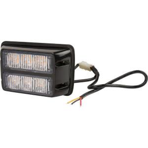 Flitslamp oranje 3 LED - LA20010 | 106x66x30 mm | 12/24 V | 18 W | 14 knipperpatronen