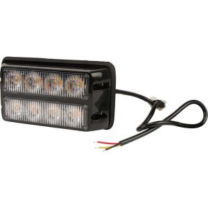 Flitslamp oranje 4 LED - LA20012 | 132x66x30 mm | 14 knipperpatronen | 24 W | 12/24 V