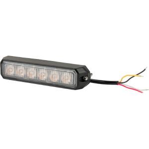 Flitslamp oranje 6 LED - LA20014 | 128x28x19 mm | 14 knipperpatronen | 18 W | 12/24 V