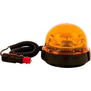 Zwaailamp, LED - LA20017 | EMC/CE/ECE R65/ECE R10 | Roteren | 9 W | Amberkleurig | Met autostekker | 12/24 V | Magneet | 2,083 Hz