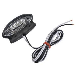 Kentekenlicht LED - LA26256 | Controlenummer: E4 4259 | Opbouw | Afmetingen: 87 x 38.5 mm | 1.500 mm | 12/24 V | 1.500 mm