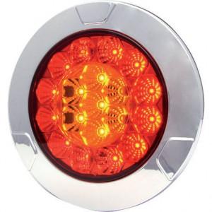 LED achterlicht 5-polig - LA40004 | EMC/E20 | 135 mm | Ø135 mm | 5 pin (TYCO) | 12/24 V