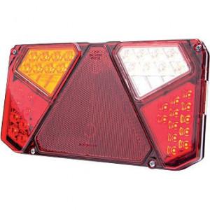 LED achterlicht 7-polig, links - LA40008 | 12/24 V | 0,9 kg | EMC/E20 | 242 x 134 x 36.5 mm | Rechthoekig | YLY-S 4 x 0,75mm2 | 7 pin (TYCO)