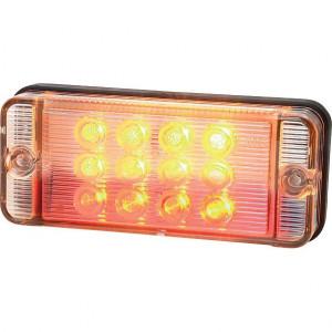 LED achterlicht - LA40009 | 12/24 V | LgY-S 0,75mm2 | Rechthoekig | 107.4 x 46.7.4 x 23 mm | 0.38 m | EMC/E20