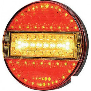 LED achterlicht 5-polig - LA40014 | 0,477 kg | 140 mm | EMC/E20 | Ø140 x 25 mm | YLY-S 4 x 0,75mm2 | 7 pin (TYCO) | 12/24 V