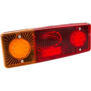 LED achterlicht 5-polig, links - LA40020 | 12/24 V | 5 pin (TYCO) | 0,489 kg | EMC/E20 | 287.5 x 100.5 x 65 mm | Rechthoekig | YLY-S 4 x 0,75mm2