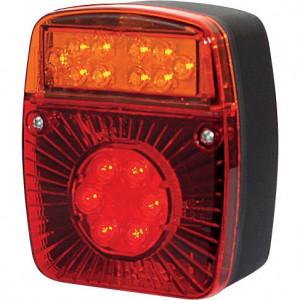 LED achterlicht - LA40021 | 12/24 V | 121 x 101 x 56 mm | EMC/E20 | Vierkant | 200 cm | YLY-S 4 x 0,75mm2