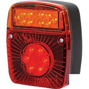 LED achterlicht 5-polig - LA40022 | 12/24 V | YLY-S 4 x 0,75mm2 | 5 pin (TYCO) | EMC/E20 | 0,336 kg | 121 x 101 x 56 mm | Vierkant