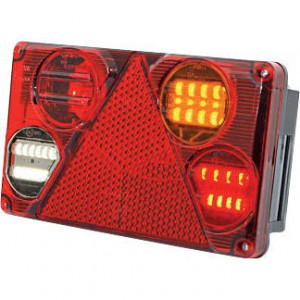 LED achterlicht 5-polig, rechts - LA40024 | 12/24 V | 1.95 m | EMC/E20 | 232 x 142 x 59 mm | Rechthoekig | YLY-S 4 x 0,75mm2 | 5 pin (TYCO)