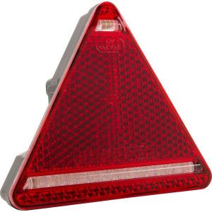 LED achterlicht 5-polig, links - LA40028 | 12/24 V | 5 pin (TYCO) | YLY-S 4 x 0,75mm2 | Driehoekig | EMC/E20 | 0,485 kg | 1.85 m
