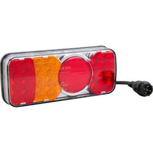 LED achterlicht 5-polig, links - LA40034 | 12/24 V | YLY-S 4 x 0,75mm2 | 5 pin (TYCO) | Rechthoekig | 0,537 kg | EMC/E20 | 200.5 x 85 x (40.5/61) mm