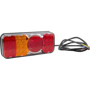 LED achterlicht, links - LA40035 | 12/24 V | 12/24 V | Rechthoekig | 190 cm | 0,537 kg | EMC/E20 | 200.5 x 85 x (40.5/61) mm