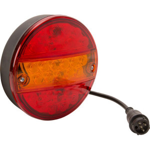 LED achterlicht 5-polig - LA40038 | 142 mm | EMC/E20 | Ø142 x 50 mm | 5 pin (TYCO)