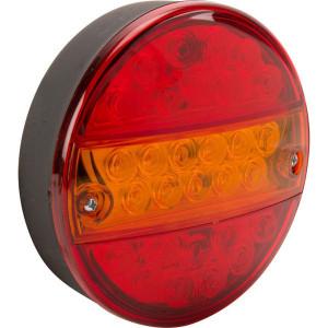 LED achterlicht 5-polig - LA40042 | 0,489 kg | 142 mm | EMC/E20 | Ø142 x 50 mm | YLY-S 4 x 0,75mm2 | 5 pin (TYCO) | 12/24 V