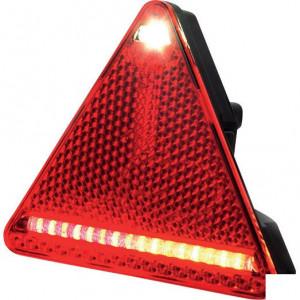 LED achterlicht, rechts - LA40049 | 12/24 V | 1.85 m | 0,476 kg | YLY-S 4 x 0,75mm2 | Driehoekig | 185 cm | EMC/E20