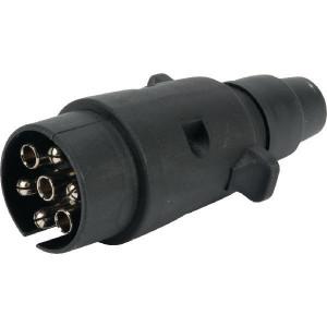 Stekker 7-polig PVC - LA403011   Contacten gechromeerd   1,5/2,5 mm² mm2
