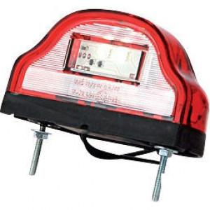 Kentekenlamp rood - LA41001 | 0.17 m | EMC/E20 | Rechthoekig | LgY-S 0,75mm2 | 12/24 V | 0,106 kg