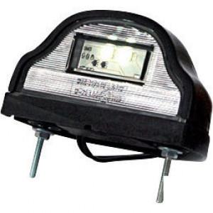 Kentekenlamp zwart - LA41002 | 0.17 m | 0,091 kg | EMC/E20 | Rechthoekig | 12/24 V | LgY-S 0,75mm2