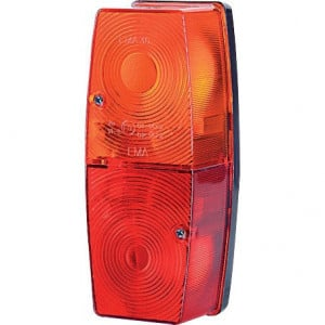 Gopart Achterlicht - LA45013 | 12/24 V | 5/21 W | Gloeilamp | exclusief gloeilampen | 4,5 mm | 162 x 66 x 56 mm | Rechthoekig