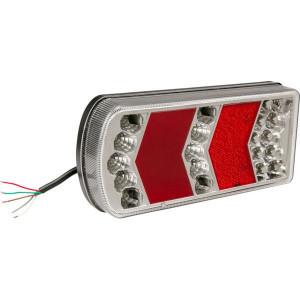 Gopart LED achterlicht - LA45018R | 12/24 V | Rechthoekig | 228 x 106 x 40 mm