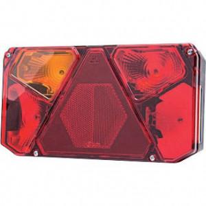Gopart Achterlicht 5-polig, links - LA45053 | 12/24 V | Gloeilamp | Rechthoekig | 242 x 134 x 58 mm | exclusief gloeilampen