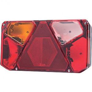Gopart Achteruitrijlicht, rechts, EU5 - LA45056 | 12/24 V | Gloeilamp | 5 pin (TYCO) | Rechthoekig | exclusief gloeilampen | 242 x 134 x 58 mm