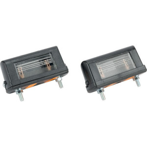 Gopart Kentekenlamp - LA46002   4,5 mm   Gloeilamp   85 x 30 x 38,8 mm   exclusief gloeilampen   Rechthoekig   5 W   PC/ABS   52,5 mm   12/24 V