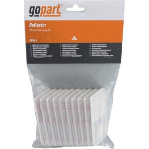 Gopart Reflector, wit, rechthoekig - LA75004 | 44 x 94 mm | PMMA/ABS | geen gaten