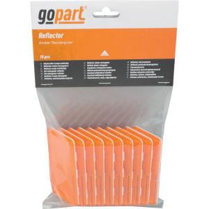 Gopart Reflector, geel, rechthoekig - LA75005 | 44 x 94 mm | PMMA/ABS | geen gaten