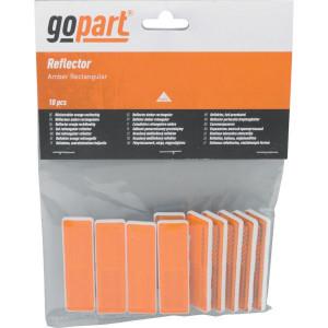 Gopart Reflector, geel, rechthoekig - LA75008 | 19 x 69 mm | PMMA/ABS | met zelfklevende tape