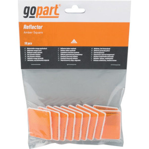 Gopart Reflector, geel, vierkant - LA75011 | 38 x 47 mm | PMMA/ABS | met zelfklevende tape