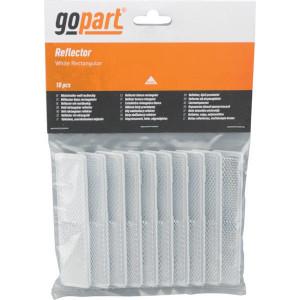 Gopart Reflector, wit, rechthoekig - LA75013 | 103 x 21 mm | PMMA/ABS