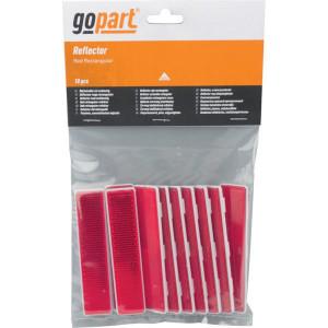 Gopart Reflector, rood, rechthoekig - LA75015 | 103 x 21 mm | PMMA/ABS