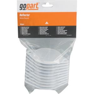 Gopart Reflector, wit, rond - LA75016 | 7,2 mm | met gaten | PMMA/ABS | 119 x 78,5 x 8 mm
