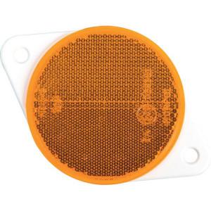 Gopart Reflector, geel, rond - LA75017 | 119 x 78,5 x 8 mm | met gaten | 7,2 mm | PMMA/ABS