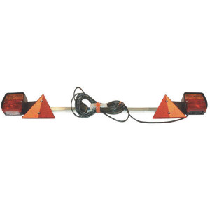 Aspöck Verlichtingsbalk 1300mm - LA7997   1200mm long   waarschuwingsdriehoeken   1300 mm