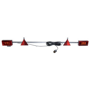 Ajba Verlichtingsbalk met kabel 12m - LA91215   waarschuwingsdriehoeken   Met nummerplaat houder   1600 mm