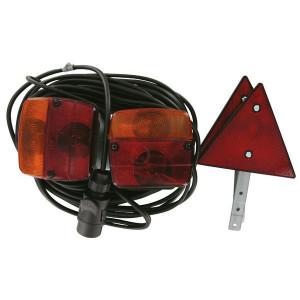Ajba Verlichtingsset magn. 12m kabel - LA91230   waarschuwingsdriehoeken   Met nummerplaat houder