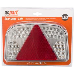 Gopart LED aanhangerlamp - LA91260L | 12/24 V | 9 W | E4-3R-02 16618 | Rechthoekig | 244 x 149 x 48 mm | 200 cm | 244 mm | 149 mm | 200 mm