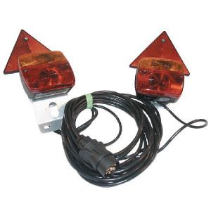 Ajba Verlichtingsset magn. 7,5m kabel - LA97530   waarschuwingsdriehoeken   Met nummerplaat houder   2500 mm