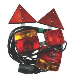 Ajba Verlichtingsset 7,5 mtr kabel - LA97535   waarschuwingsdriehoeken   Met mistlamp   2,5 mm