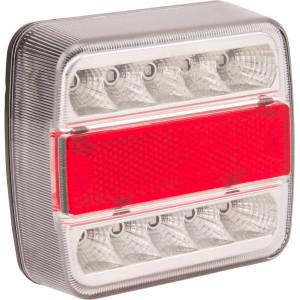 Gopart LED achterlicht 5 pol baj. 12V - LA99200GP | 1 W | E4-3R-02 14196 | 5 pin (TYCO) | Rechthoekig | 106 x 98 x 35 mm