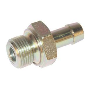 "Koppeling 3/8"" - LNH136 | Buitendraad BSP | BSP-nippels | D.m.v. koperen ring | DIN 2353 | Verzinkt | 3/8 Inch BSP"
